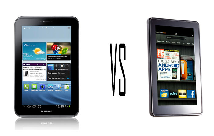 10 reason why the new Samsung Galaxy Tab 2 (7.0) is a better device than Amazon Kindle fire