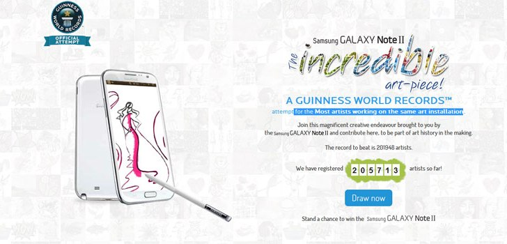 Samsung India creates new guinness word record  for the most artists working on the same art installation