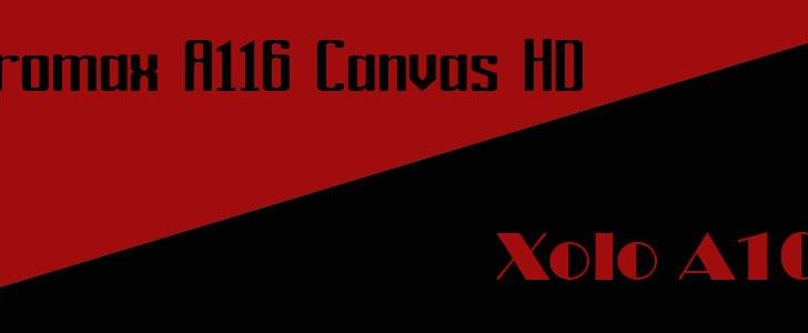 Micromax A116 Canvas HD vs XOLO A1000
