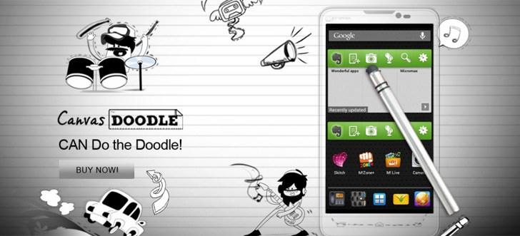 Micromax A111 Canvas Doodle with stylus, quad-core processor listed at Rs.12999