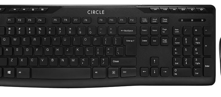 Keyboard and mouse combo makes a circle with Circle C50 combo