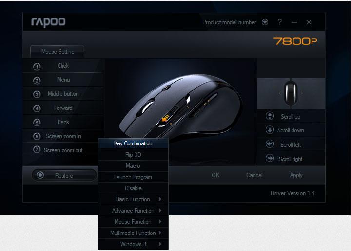 rapoo-7800p-mouse-custom-setting