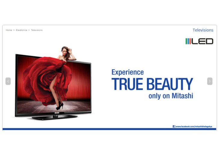 Mitashi launches 65″ Full HD LED TV; priced at Rs 1,39,990