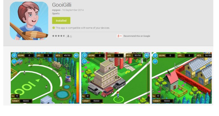 GooiGilli is a Gilli-danda game for your iPhone, Android devices