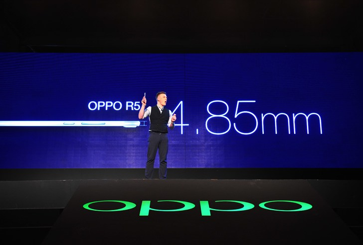 At 4.85mm Oppo R5 is the world's thinnest Smartphone and features 64-bit octa-core processor