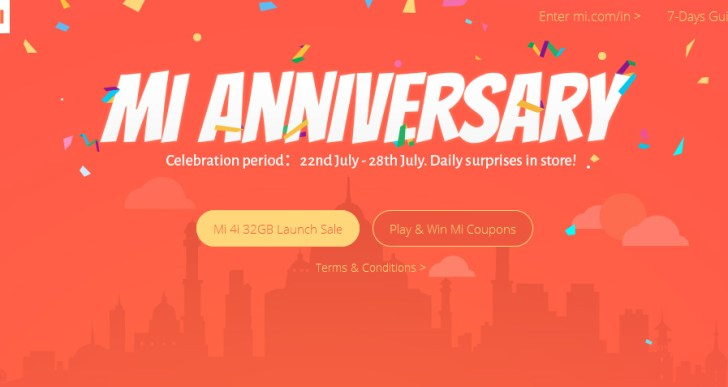 It's first anniversary for Mi India; Announces the 32GB version of Mi4i and Mi Store App