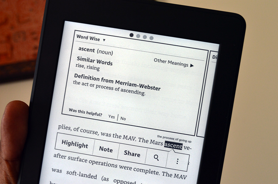Kindle-dictionary