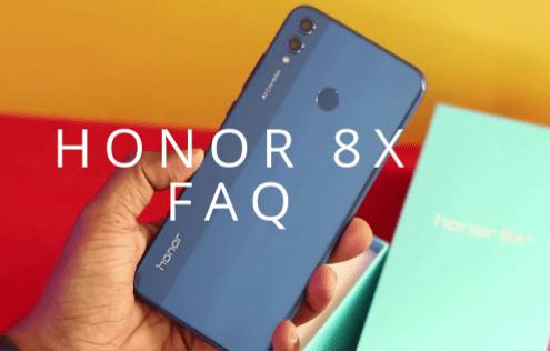 Honor 8X FAQ