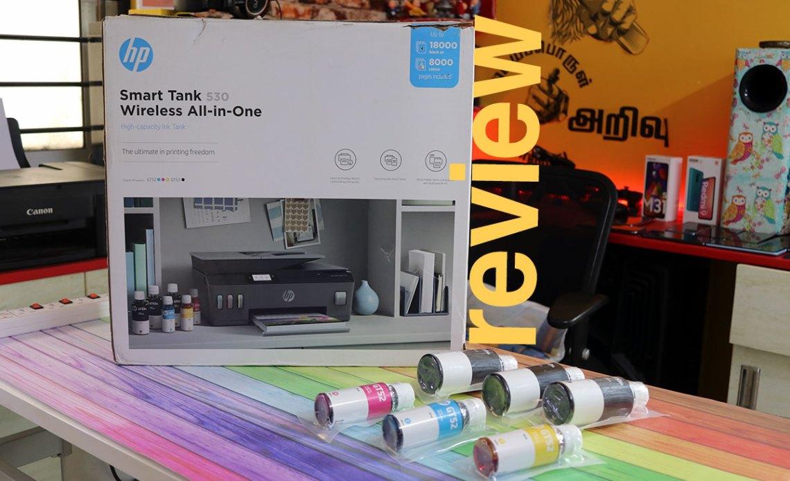 Hp Smart Tank 530 Printer Review Tech Raman
