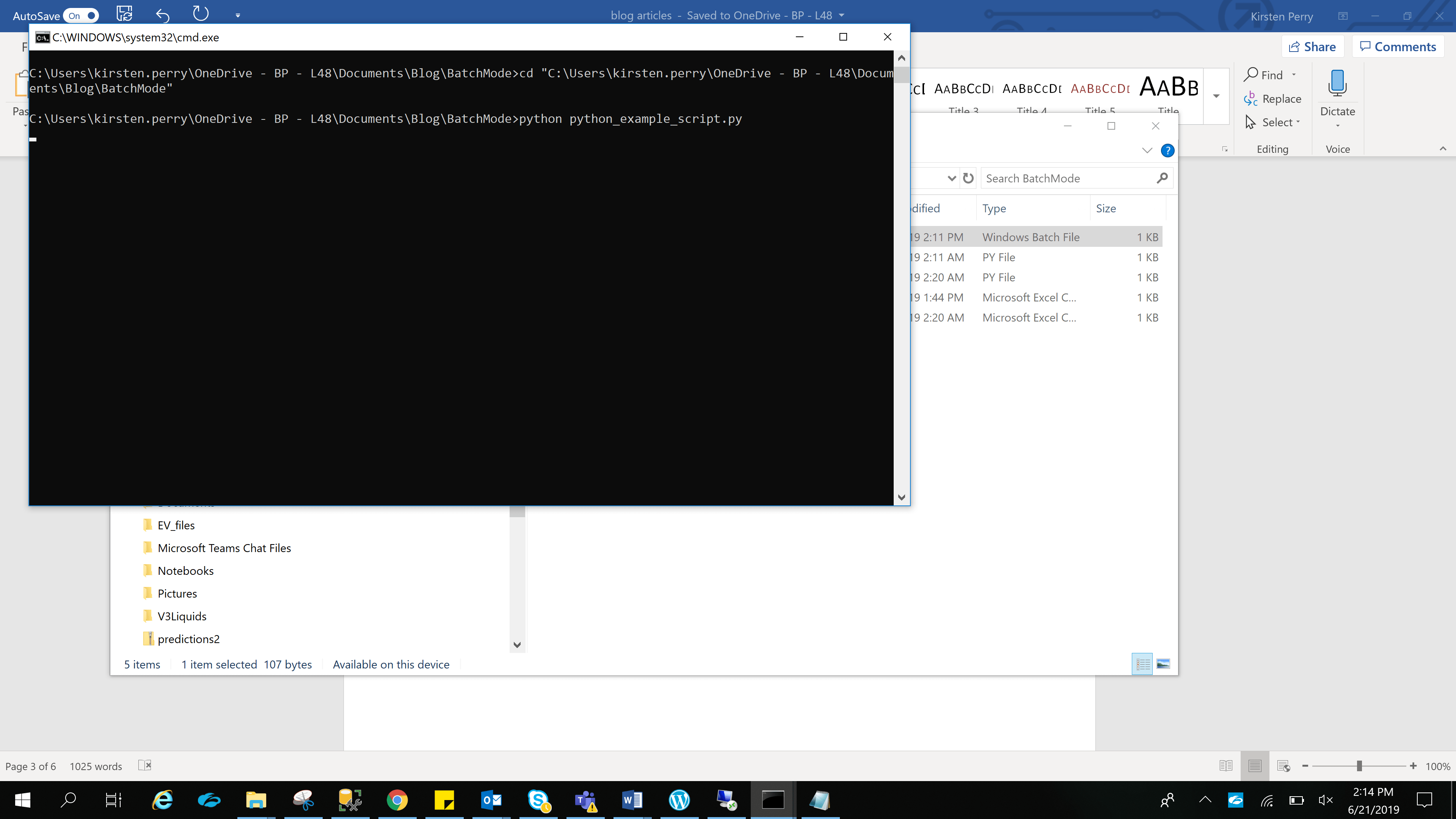 How to Execute Python Scripts in Batch Mode using Windows