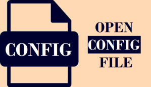 Open CONFIG File