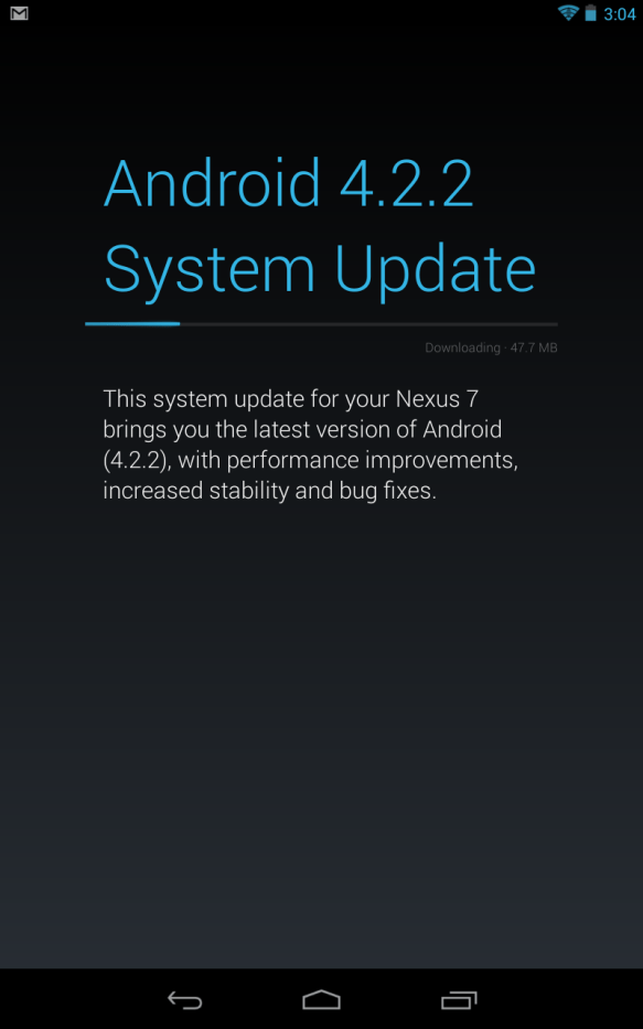 Android Jelly Bean System Update