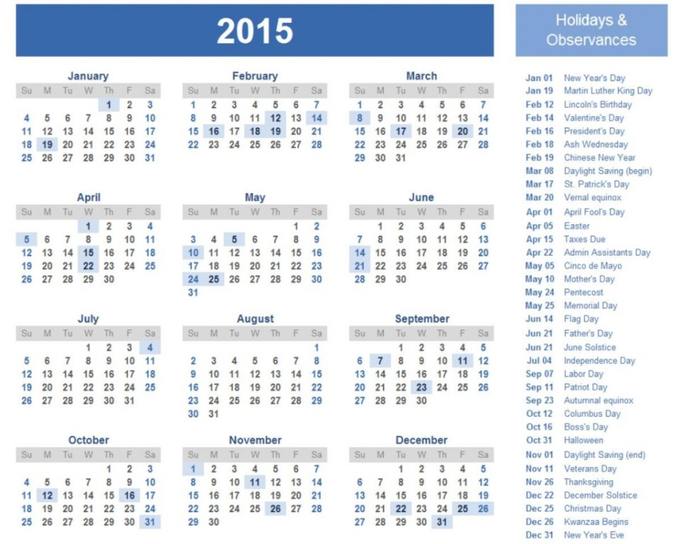Best 2015 Calendar HD Wallpapers 10