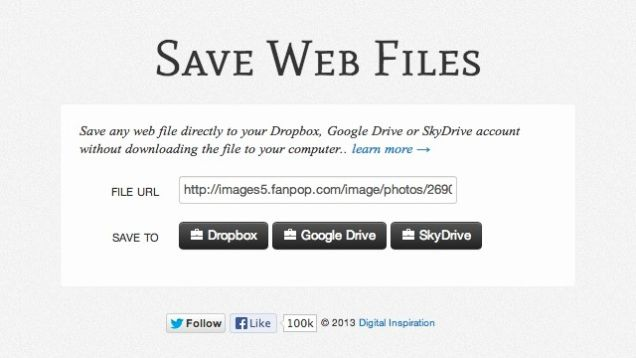 save web files