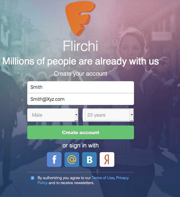 Flirchi Dating Website Login & Messages 2