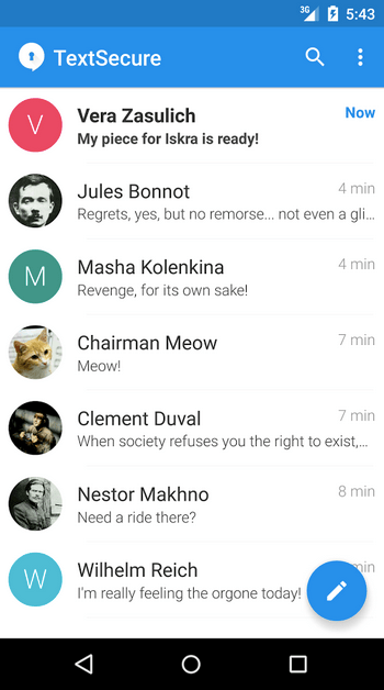 TextSecure Private Messenger APK 2