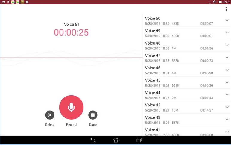 ASUS Sound Recorder APK 3