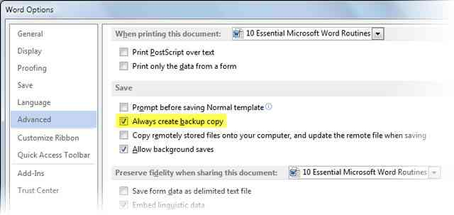 Word-Backup-Copy
