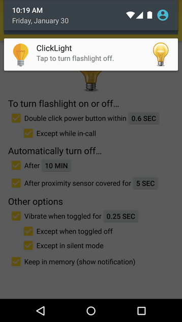 ClickLight Flashlight APK 4