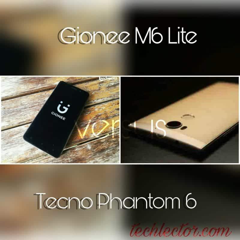Gionee M6 Lite vs Tecno Phantom 6