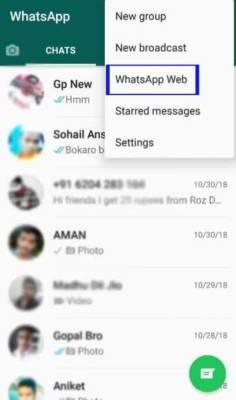 WhatsApp على جهاز الكمبيوتر
