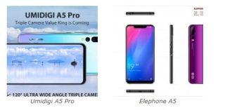 Umidigi A5 Pro VS Elephone A5