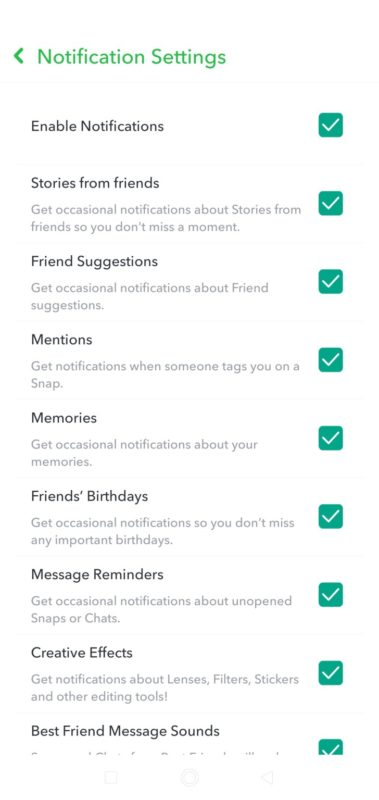 Turn Off Typing Notifications Snapchat