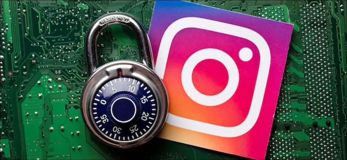 Instagram Logo Next To A Padlock
