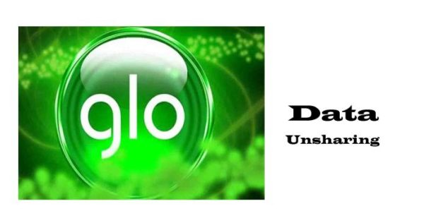 Remove Number Glo Data Sharing List