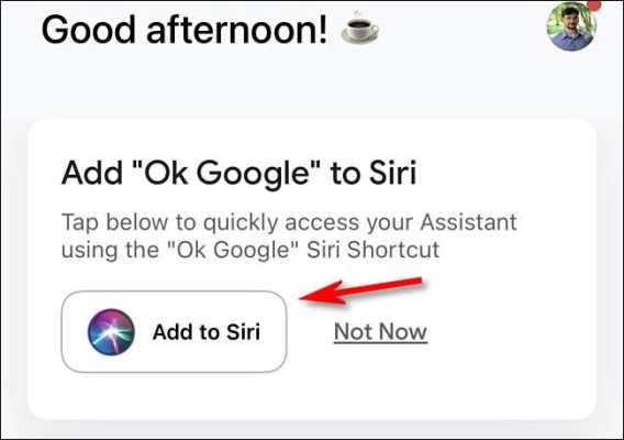 Click Add To Siri 3