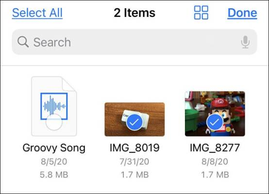 Select Items In Files