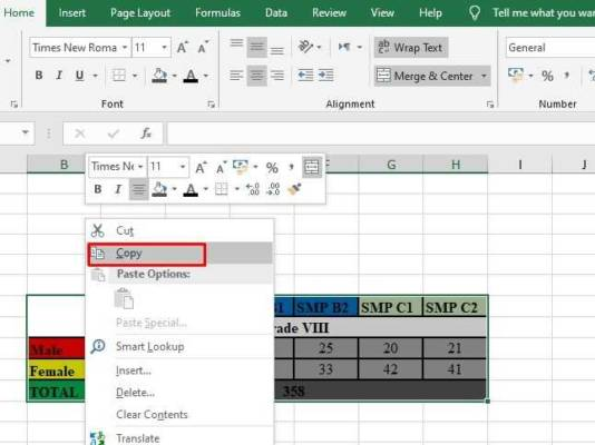 Move Excel To Word 001