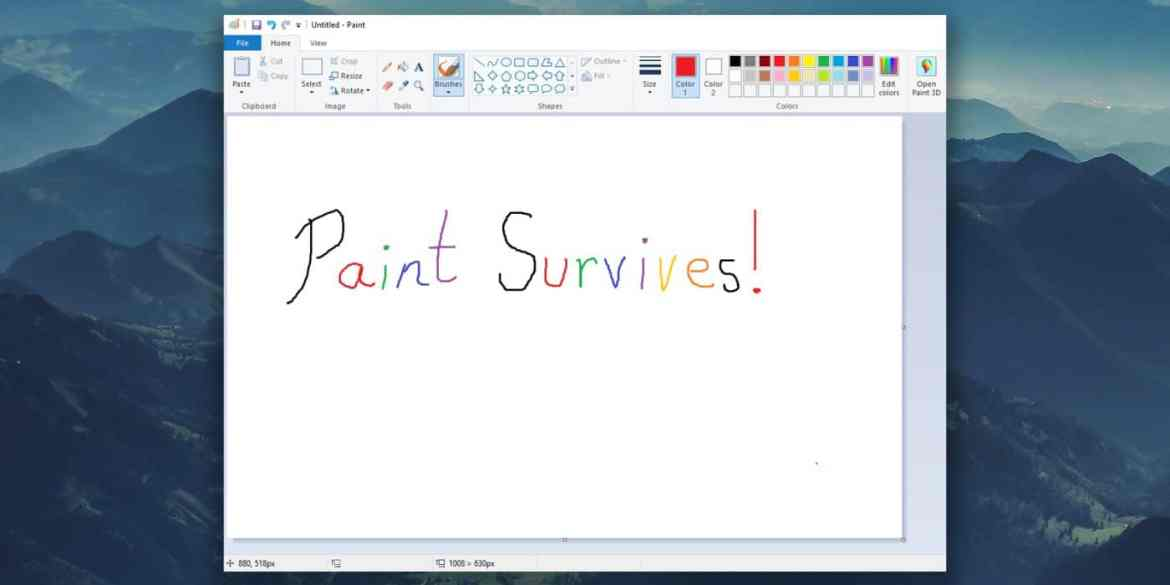 MS Paint Lives! Microsoft keeps beloved app in Windows 10