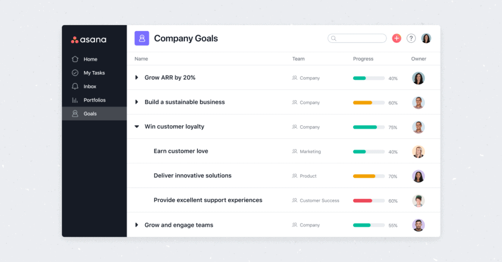 Asana intros Goals, an OKR-tracking feature for objective-oriented teams