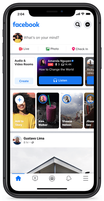 Facebook Live Audio Rooms is yet another Clubhouse clone