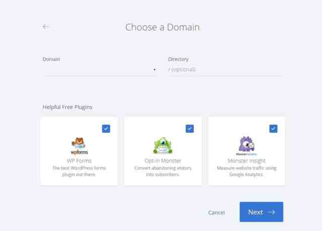 Choose a domain How to Install WordPress, Theme, and Plugin on Bluehost