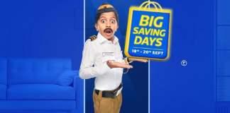 Flipkart Big Saving Days from 18th - 20th September