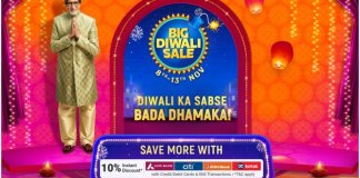 Flipkart Big Diwali Sale Begins November 8