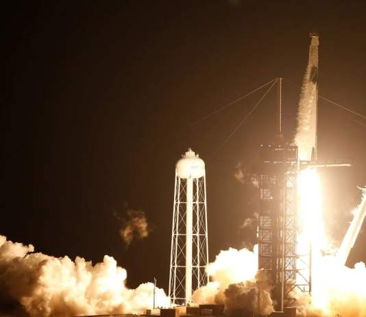 SpaceX Crew Dragon Capsule Resilience, Carrying Four Astronauts, Docks With International Space Station