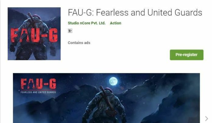 FAU-G live on Google Play, pre-registration starts