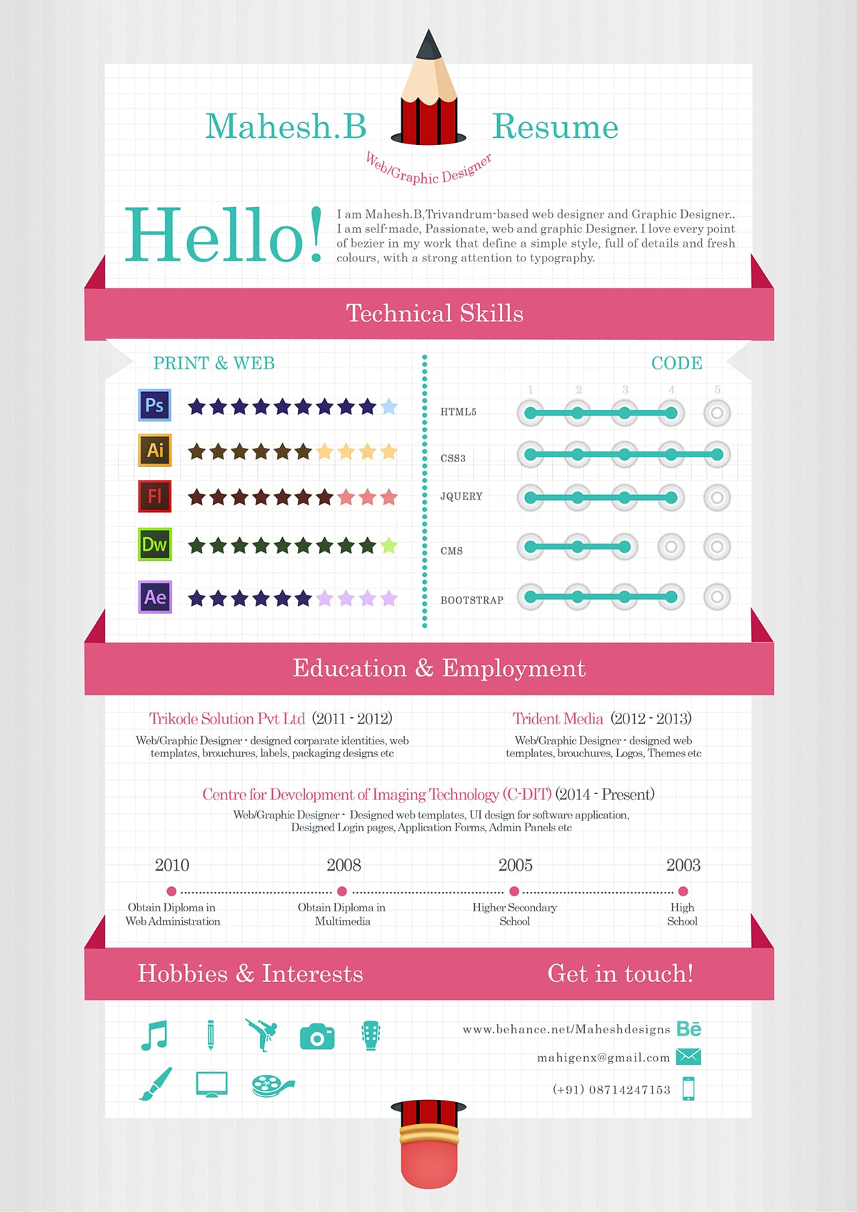 Web Design Resume Template Free Download 55 Amazing Graphic Design Resume Templates To Win Jobs