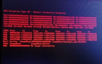 X64 Exception type 0D in HP DL180 Gen9 (Fix)