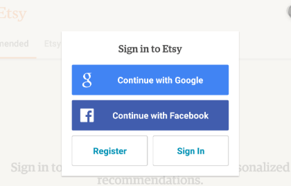 Etsy Sign in