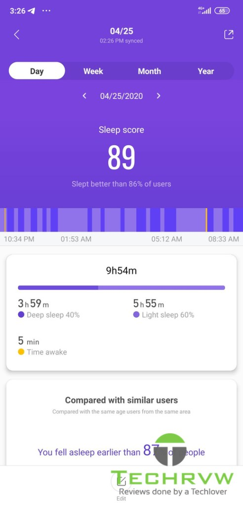 Xiaomi Mi Band 4 Software 0011