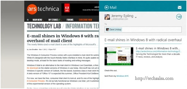 Windows Mail Application now Available in Windows 8 | Tech Salsa