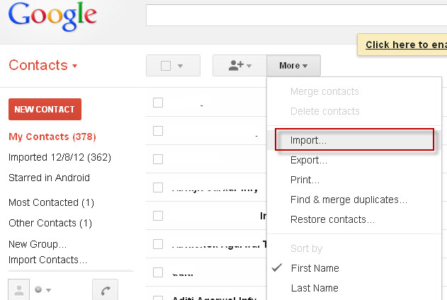 how to use gmail for phone contacts