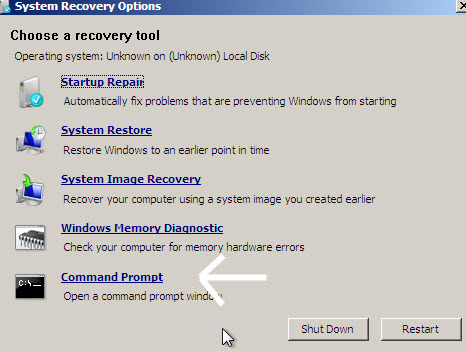 system-recovery-options-cmd