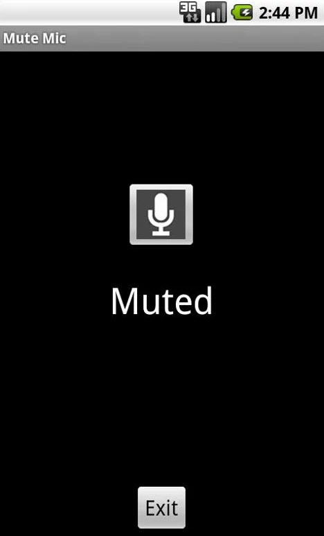 Mute Mic Lets you Mute Microphone on your Android Device