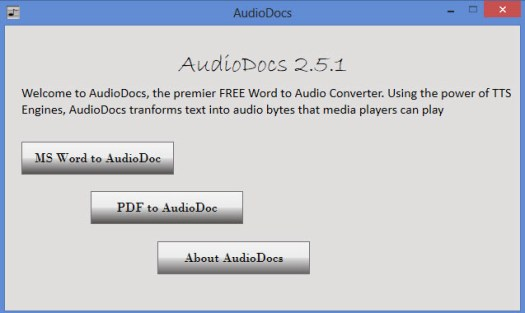 Export MS Word Documents to Audio Files with AudioDocs