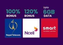 COVID-19 Outbreak: Nepal Telecom, Ncell, and Smart are offering 100%, 120% Bonus and Upto 6GB Data